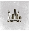 New York city architecture retro black and white vector image