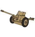 Old sand cannon vector image
