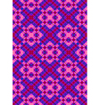 Pink rhombuses on purple checkered seamless backgr vector image vector image