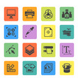 printing service squre colored icons vector image