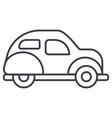 retro car line icon sign o vector image vector image
