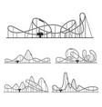 roller coaster various route set amusement rides vector image vector image