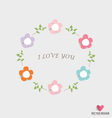 Romantic card spring floral design element vector image vector image