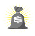 sack full of money with dollar sign - wealth vector image vector image