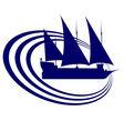 Sailing ship 1 vector image vector image