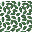 seamless pattern with drawing leaves vector image