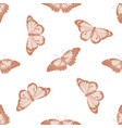 seamless pattern with hand drawn pastel red vector image vector image
