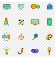 Seo set icons vector image vector image