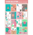 set colorful vintage cards with hipster vector image vector image
