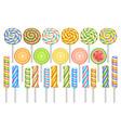 set lollipops vector image vector image