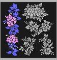 set of floral elements for design vector image vector image