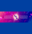 shining versus logo on abstract background vector image