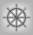 Ship wheel sign pencil sketch imitation vector image