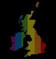 spectrum dot lgbt great britain and ireland map vector image