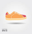 sport shoes sneakers flat icon with vector image vector image