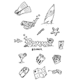 surfing hand draw doodles vector image vector image
