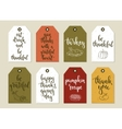 Thanksgiving day vintage gift tags and cards with vector image
