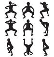 twerking silhouettes vector image vector image
