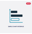 two color simple chart interface icon from user vector image