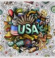 usa hand drawn cartoon doodle vector image