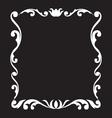 vintage frame design element vector image vector image