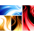 Wavy abstractions vector image vector image