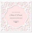 Wedding invitation card template with laser