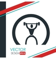 weight lifting design vector image vector image