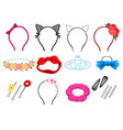 women hair accessories vector image vector image