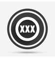 XXX sign icon Adults only content symbol vector image vector image