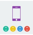 smartphone flat circle icon vector image