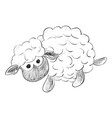 sketch of toy sheep vector image