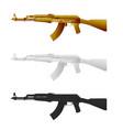 assault rifle flat icon vector image