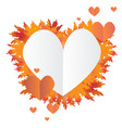 autumn leafs heart vector image