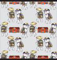 bears and school house seamless pattern bear go vector image