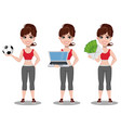 beautiful woman in sport outfit vector image