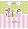 Birthday announcement card vector image vector image