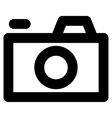 Camera Stroke Icon vector image
