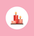 candle icon sign symbol vector image vector image