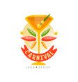 carnival logo design bright festive party banner vector image vector image