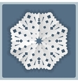 Christmas paper snowflake origami icon Paper cut vector image vector image