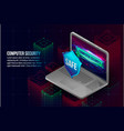 computer security concept background isometric vector image vector image