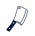 contour kitchen knife knife for cutting meat vector image vector image