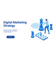 dm strategy 3d template 2 vector image vector image