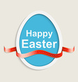 Easter egg Happy easter card vector image vector image
