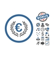 Euro Glory Flat Icon With Bonus vector image vector image