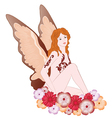 Fairy with flowers vector image vector image
