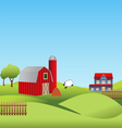 Farm and countryside vector image vector image
