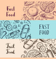 fast food vintage advertising set vector image vector image