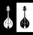flat detailed of mandolins vector image vector image
